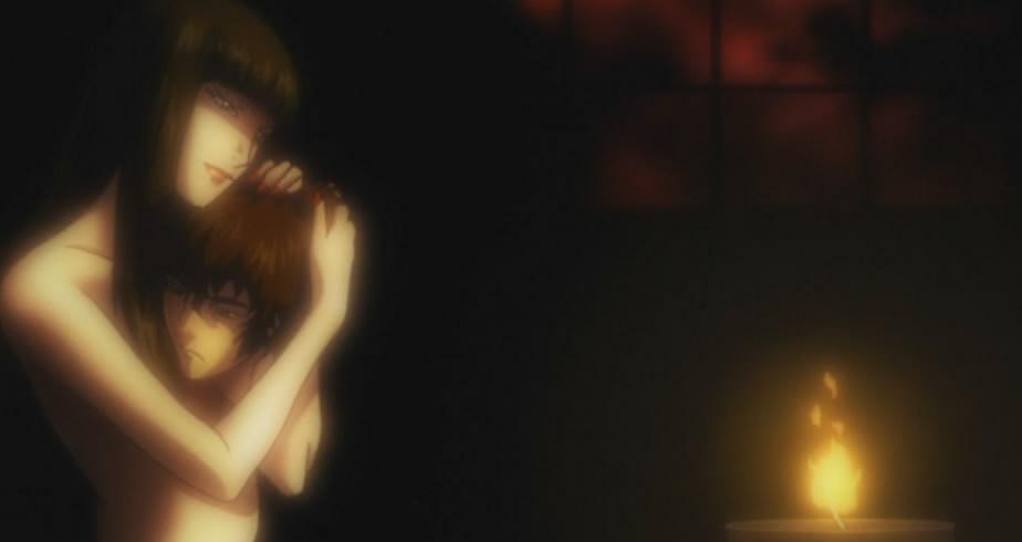 Kuromitsu dan Kuro dalam proses pemindahan tubuh yang baru