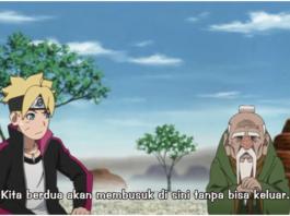Boruto dan Oohnoki terjebak di daratan sanzu